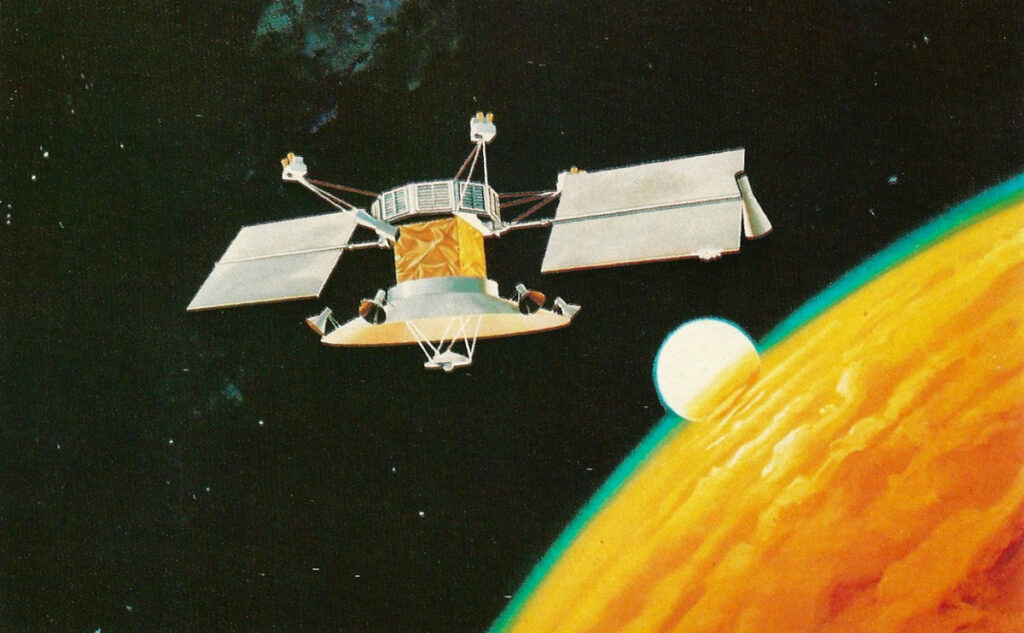 Станция «Венера-9» в представлении художника.